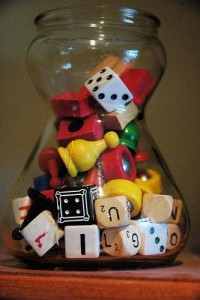 Game Piece Jar