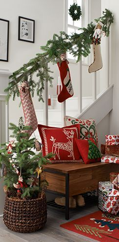 day 4 indoor decorations 12 days of christmas for your home - How To Decorate Outdoor Stairs For Christmas